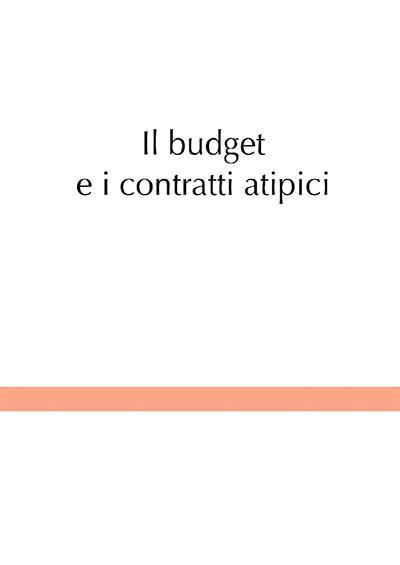 Il budget e i contratti atipici