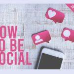 how to be social marketing